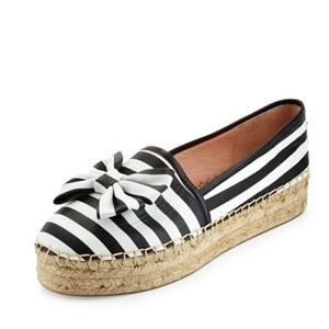 New Never Worn Kaye Spade Black and White BowShoes